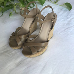 Charles David — Astro Cork & Jute Wedges Taupe / 8